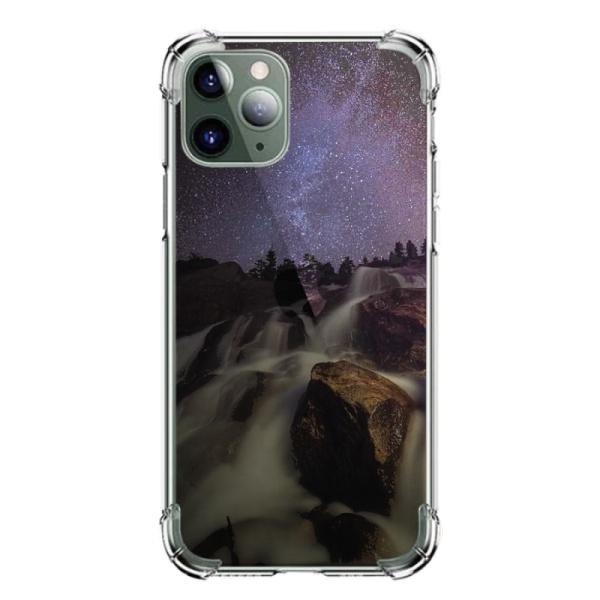burga phone cases Starry Night Waterfalls Custom Transparent Phone Case for iPhone 11 Pro Max