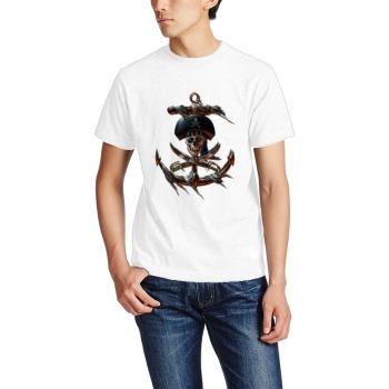 pirate Custom Men's Crew-Neckone T-shirt Navy White