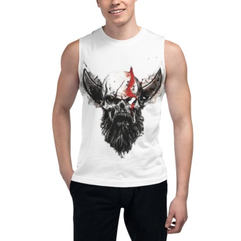God of War Skull Custom Men's Sleeveless T-shirt