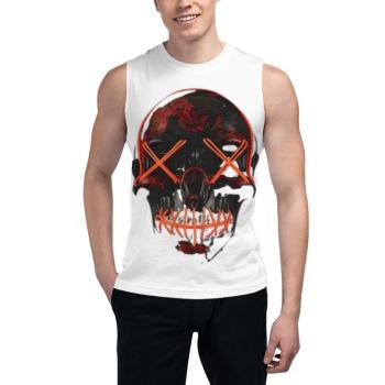 Halloween Skull Custom Men's Sleeveless T-shirt