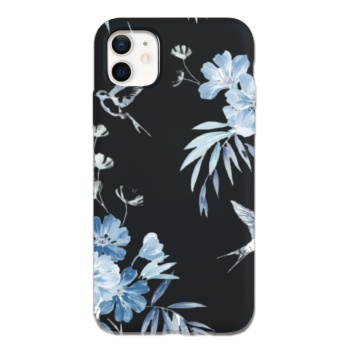 Blue Floral Custom Phone Case For Iphone