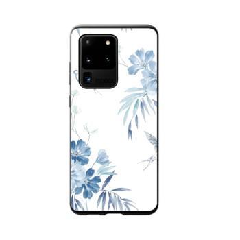 Blue Floral Custom Phone Case For Samsung
