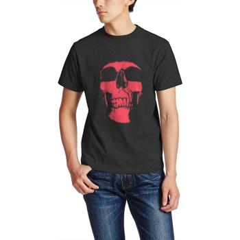 Pink skeleton Custom Men's Crew-Neckone T-shirt Black