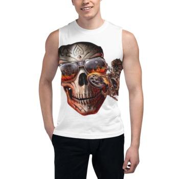 Scary skeleton Custom Men's Sleeveless T-shirt