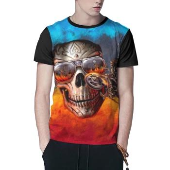 Scary Skeleton Custom Men's T-shirt