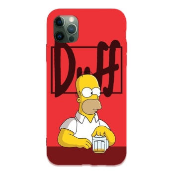 Simpson 08 Custom Liquid Silicone Phone Case For Iphone 12 Pro Max