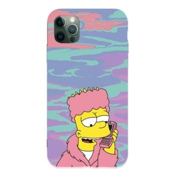 Simpson 09 Custom Liquid Silicone Phone Case For Iphone 12 Pro Max