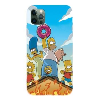 Simpson 12 Custom Liquid Silicone Phone Case For Iphone 12 Pro Max