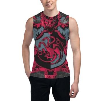 Crest of the Dragon Custom Men's Sleeveless T-shirt