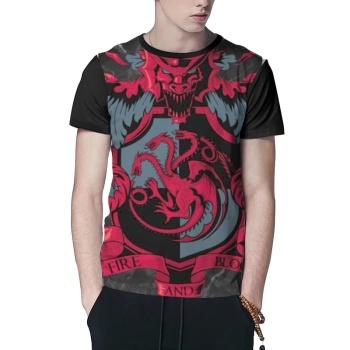 Crest of the Dragon Custom Men's Crew-Neckone T-shirt