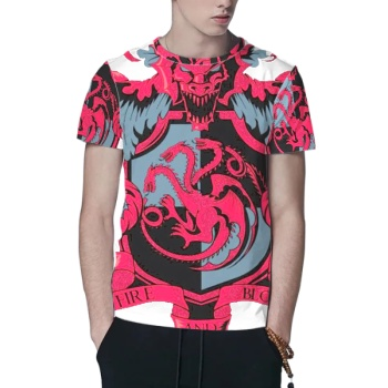 Crest of the Dragon Custom All Surface  Men's T-shirt