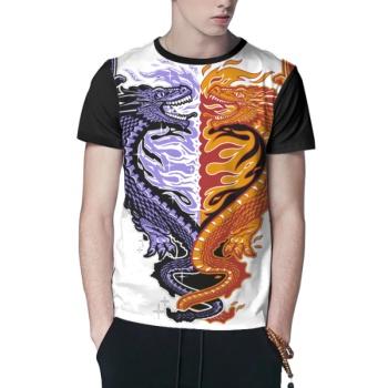 Ice & Fire Custom Men's Crew-Neckone T-shirt