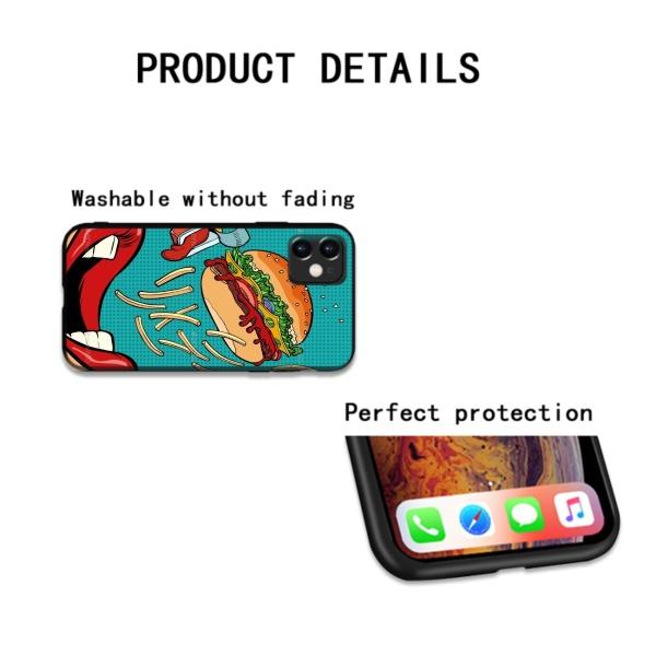 Burger Custom Liquid Silicone Phone Case for iPhone 12 Pro Max