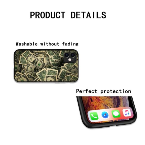 Money Custom Liquid Silicone Phone Case for iPhone 12 Pro Max