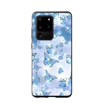 Blueish Purple Butterfly Custom Phone Case For Samsung Galaxy S20 Ultra
