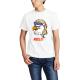 Eagle Mullet Custom Men's Crew-Neckone T-shirt Navy White