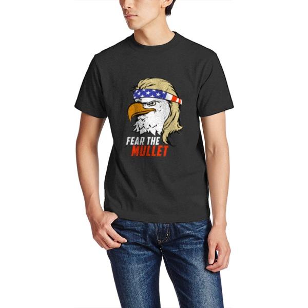 Eagle Mullet Custom Men's Crew-Neckone T-shirt Black