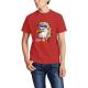 Eagle Mullet Custom Men's Crew-Neckone T-shirt Red