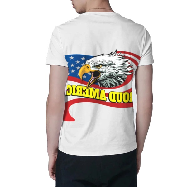 Eagle in Flowing Custom All Surface  Men's T-shirt