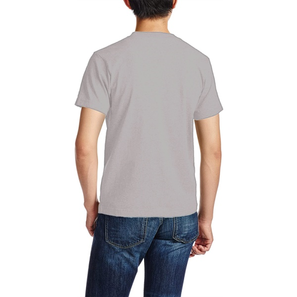 Eagle in Flowing Custom Men's Crew-Neckone T-shirt Gray
