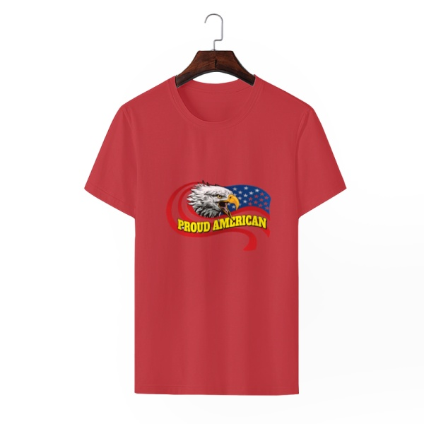 Eagle in Flowing Custom Men's Crew-Neckone T-shirt Red