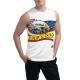 Eagle in Flowing Custom Men's Sleeveless T-shirt