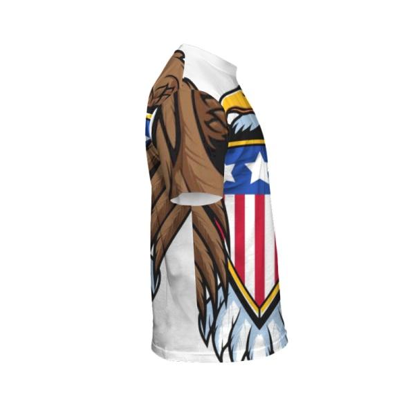 Bald eagle symbol Custom All Surface  Men's T-shirt