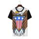 Bald eagle symbol Custom Men's Crew-Neckone T-shirt