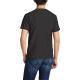 Bald eagle symbol Custom Men's Crew-Neckone T-shirt Black