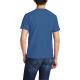 Bald eagle symbol Custom Men's Crew-Neckone T-shirt Navy Sapphir Blue