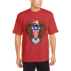 Bald eagle symbol Custom Men's Crew-Neckone T-shirt Red