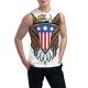 Bald eagle symbol Custom Men's Sleeveless T-shirt