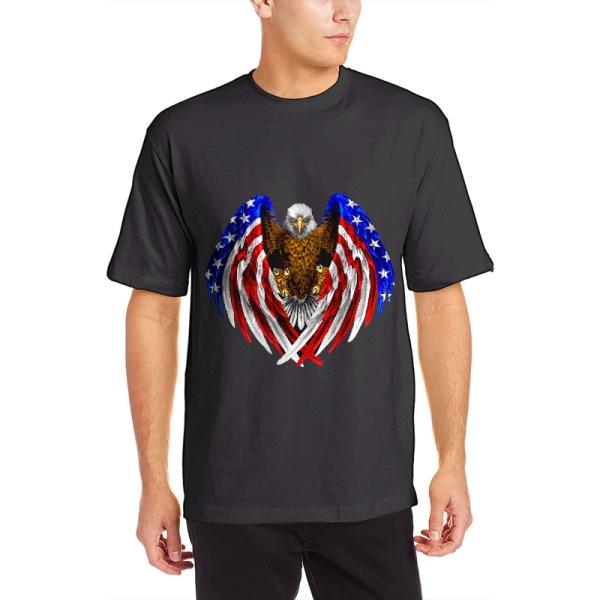 American Pride Custom Men's Crew-Neckone T-shirt Black