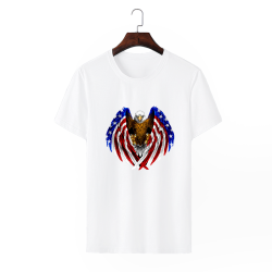 American Pride Custom Men's Crew-Neckone T-shirt Navy White