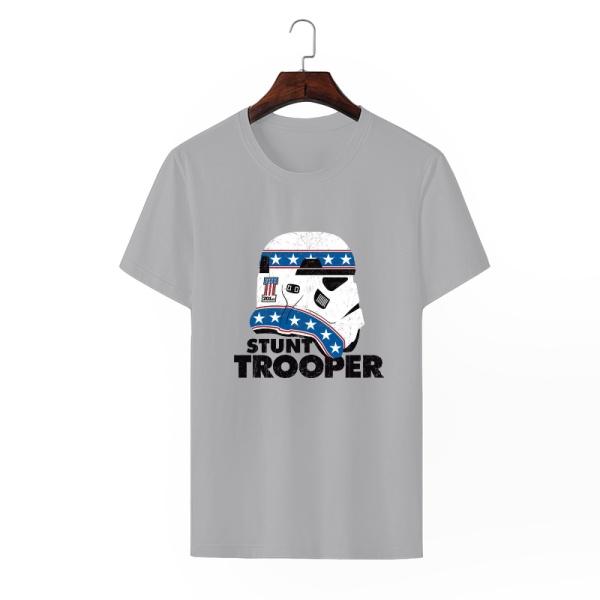 Stunt Trooper Custom Men's Crew-Neckone T-shirt Gray