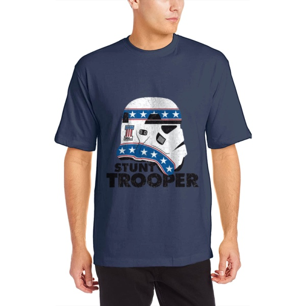 Stunt Trooper Custom Men's Crew-Neckone T-shirt Navy Blue