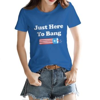 JUST HERE TO BANG Custom Women's T-shirt Dark Blue