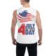 Happy Independence Day Custom Men's Sleeveless T-shirt