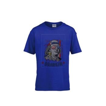 BEN DRANKIN Gildan Children's Round Neck T-shirt Sports Sapphire Blue