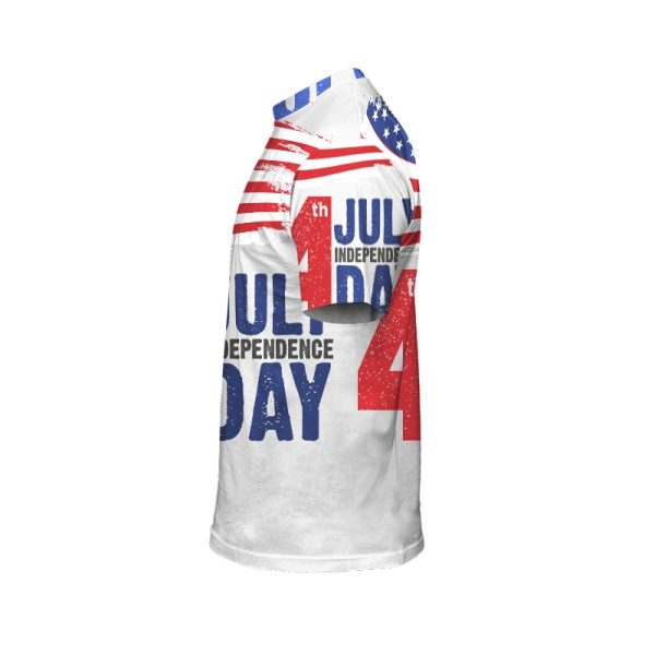 Happy Independence Day Custom All Surface  Men's T-shirt