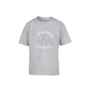 ERMAGERD SPERKLERS Gildan Children's Round Neck T-shirt Gray