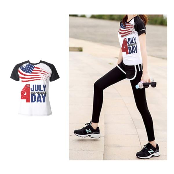 Happy Independence Day Custom Women's Crew Neckone T-shirt
