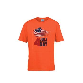 Happy Independence Day Gildan Children's Round Neck T-shirt