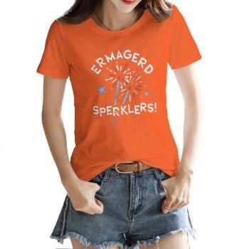 ERMAGERD SPERKLERS Custom Women's T-shirt Orange