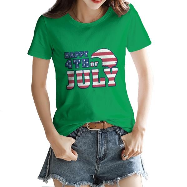 Happy 4th Of July Custom Women's T-shirt