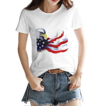 independence Day Custom Women's T-shirt White