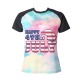 Happy 4th of July Custom Women's Crew Neckone T-shirt