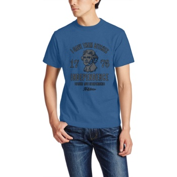 INDEPENDENCE 1776 Custom Men's Crew-Neckone T-shirt Navy Sapphir Blue