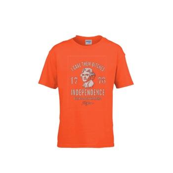INDEPENDENCE 1776 Gildan Children's Round Neck T-shirt Orange