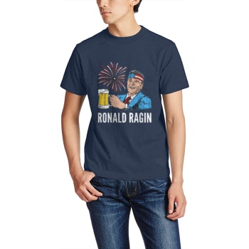 RONALD RAGIN Custom Men's Crew-Neckone T-shirt Navy Blue